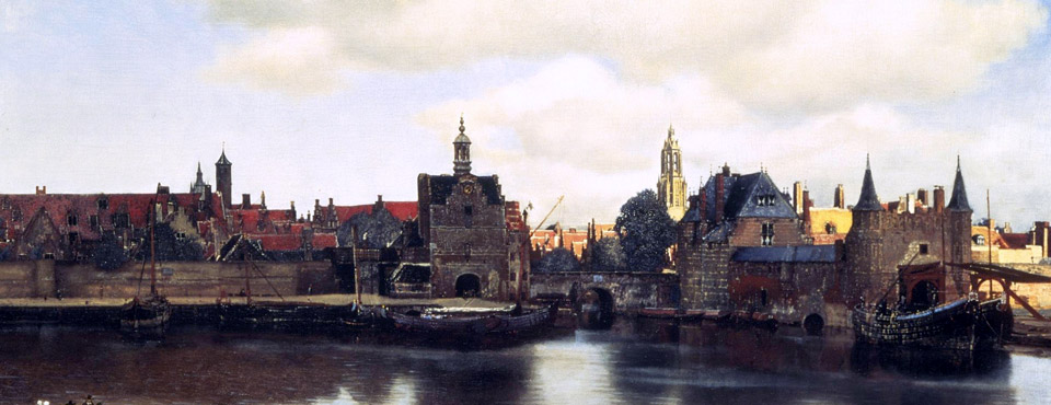 Johannes Vermeer's View of Delft, framed by John Davies Framing