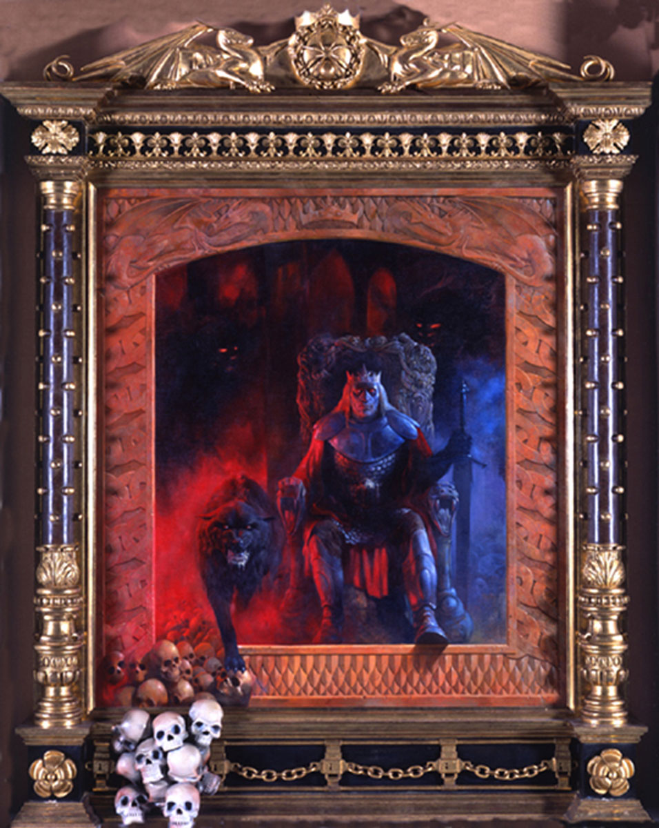 Gregory Tolkien Sauron carved triptych picture frame