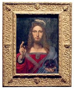 Gold carved Salvatore Mundi angel cassetta picture frame
