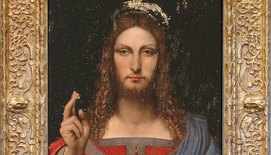 Da Vinci Salvator Mundi in an Angel Cassetta frame