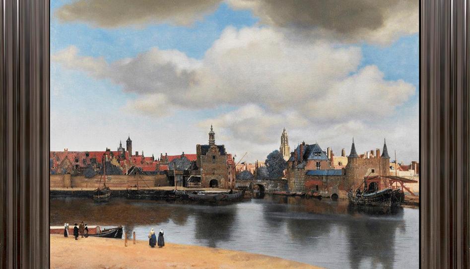 Johannes Vermeer's View of Delft, framed by John Davies Framing